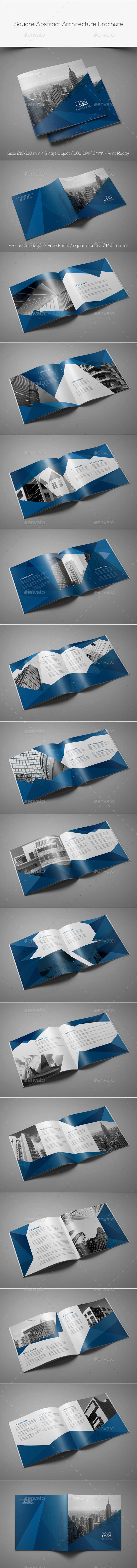 GraphicRiver Square Abstract Architecture Brochure 11252850