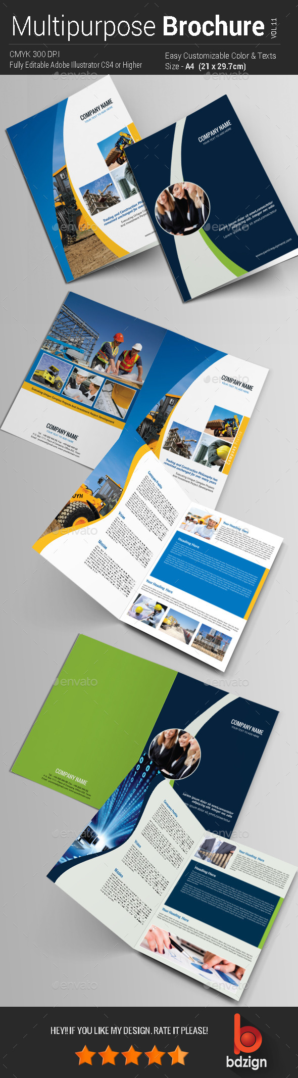 GraphicRiver Multipurpose Bi-fold Brochure Vol-11 11252890