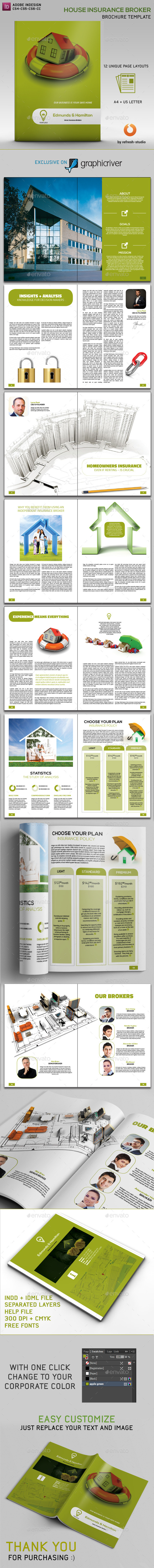 GraphicRiver House Insurance Broker Brochure 11252921