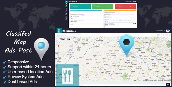 CodeCanyon Classified Map Ad Posting 11252930