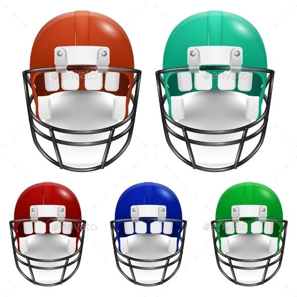 GraphicRiver Football Helmets Set 11253004