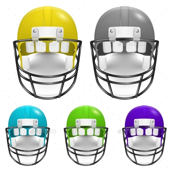 GraphicRiver Vecror Football Helmets Set 11253008