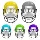 Vecror Football Helmets Set - GraphicRiver Item for Sale