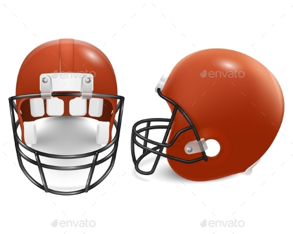 GraphicRiver Two Vector Football Helmets Front And Side View 11253022