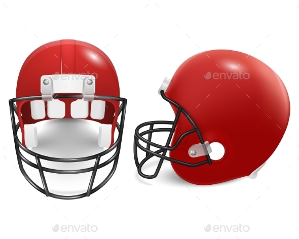 GraphicRiver Two Vector Football Helmets Front And Side View 11253031