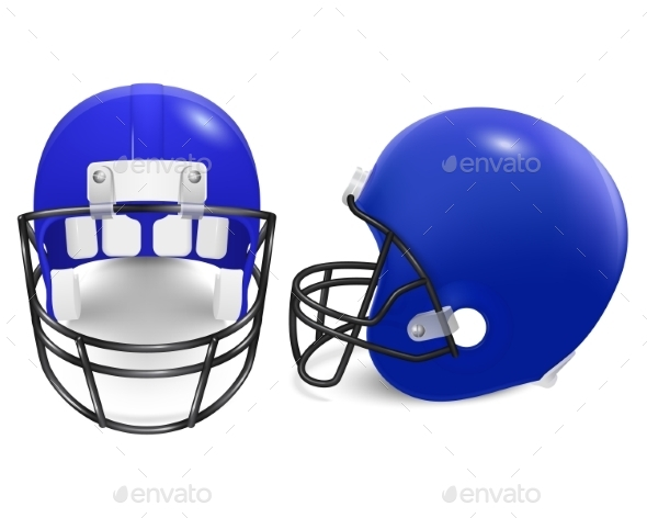 GraphicRiver Two Vector Football Helmets Front And Side View 11253034