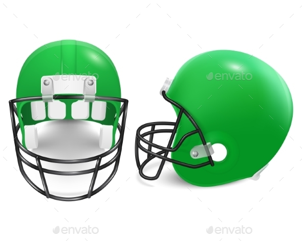 GraphicRiver Two Vector Football Helmets Front And Side View 11253038