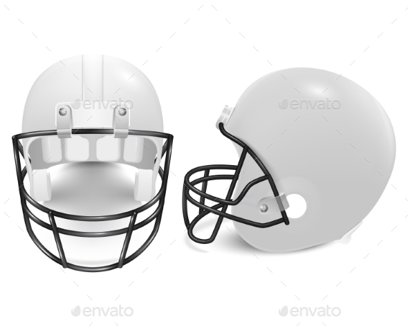 GraphicRiver Two Vector Football Helmets Front And Side View 11253042