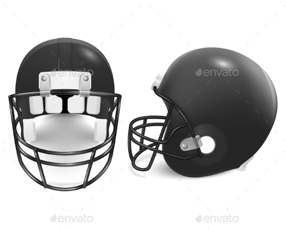 GraphicRiver Two Vector Football Helmets Front And Side View 11253044