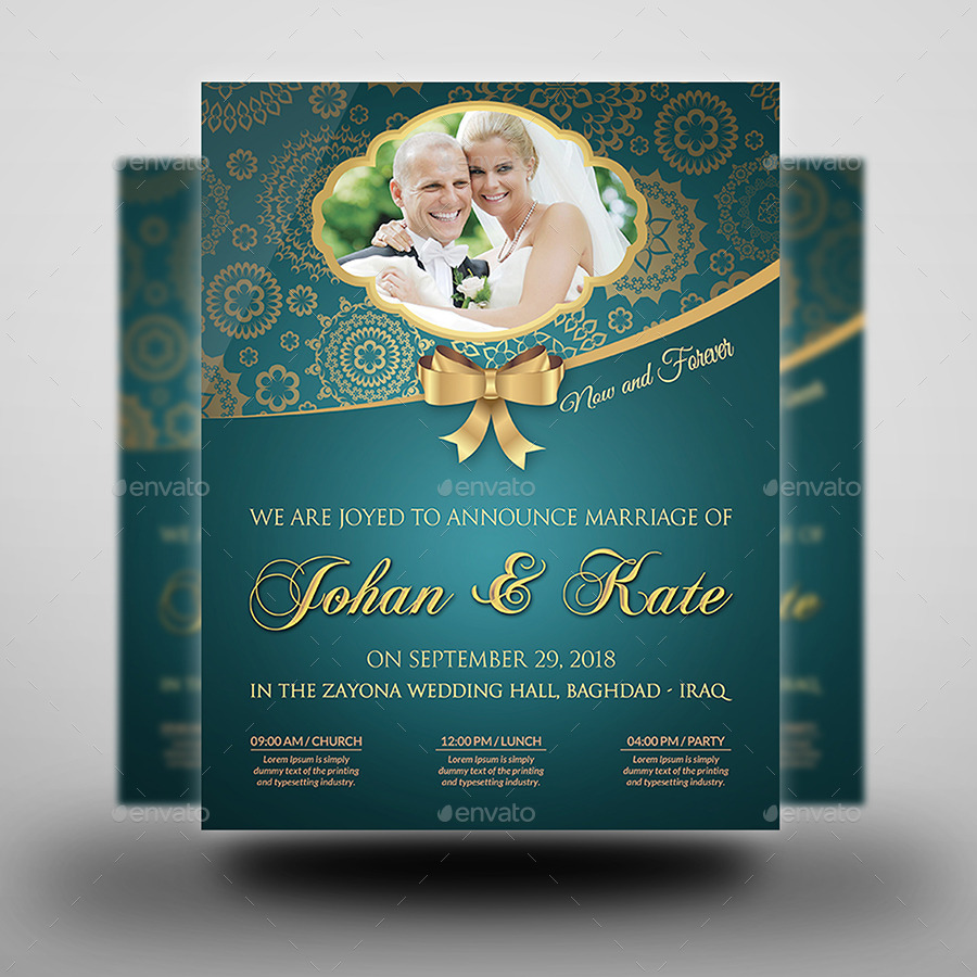 Wedding Party Flyer Template Vol.2 by OWPictures | GraphicRiver