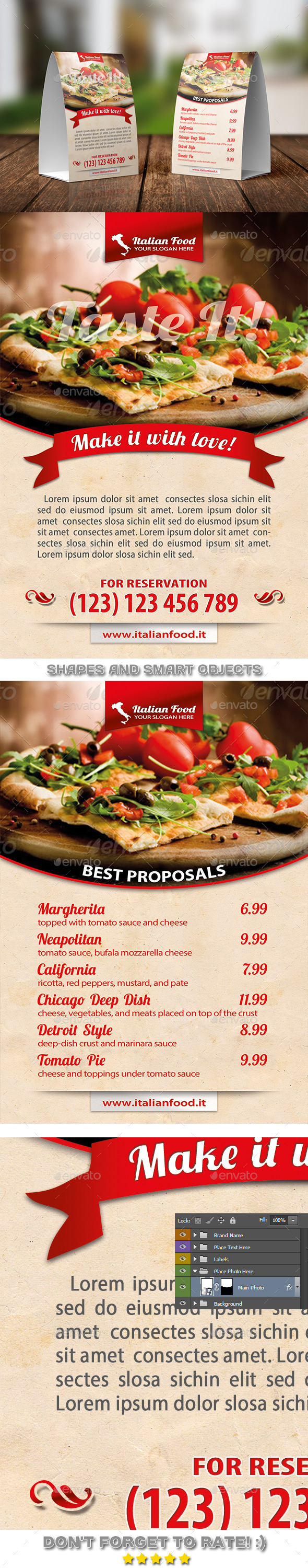 GraphicRiver Italian Pizza Table Tent Template 02 11253197