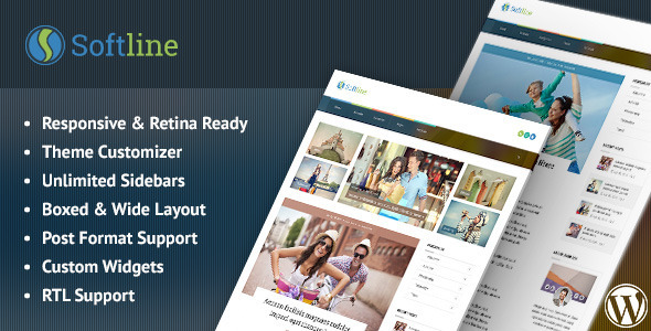 ThemeForest Softline Responsive WordPress Blog Theme 11183418