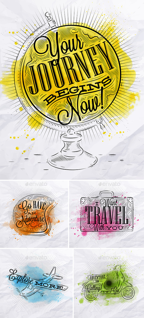 GraphicRiver Poster Journey Watercolor 11253327