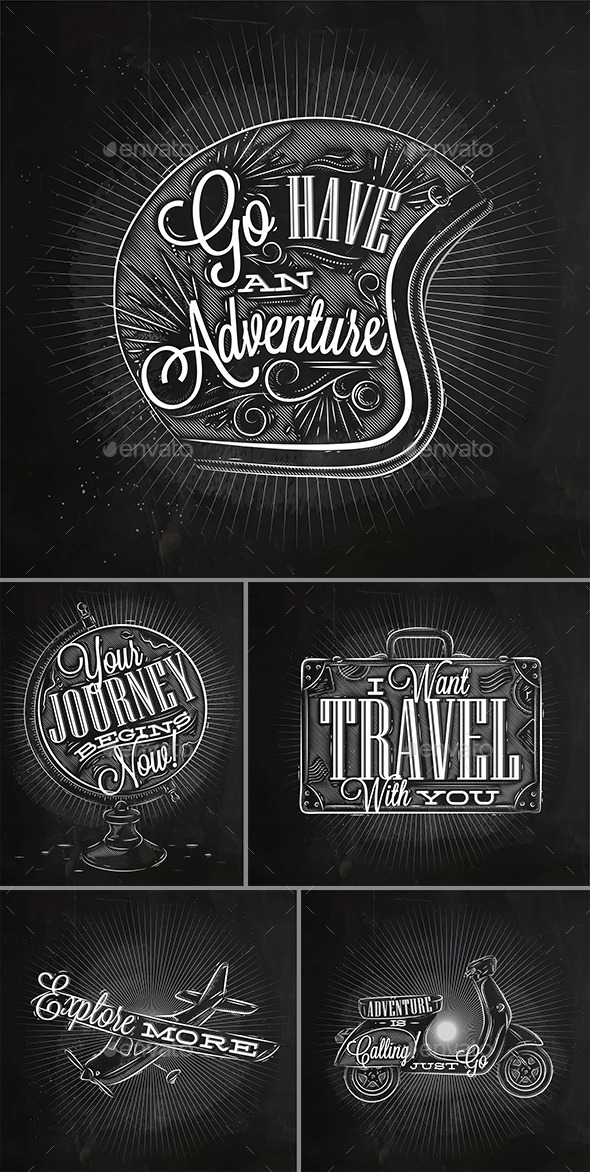 GraphicRiver Poster Journey Chalk 11253341