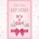 Its a Girl. Template For Baby Shower Celebration. - GraphicRiver Item for Sale