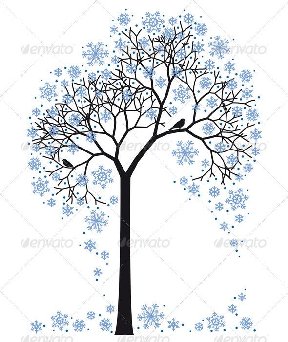 GraphicRiver Winter Tree 1127677