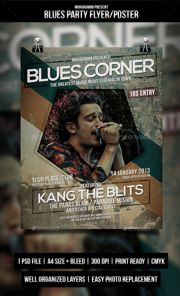 GraphicRiver Blues Party Flyer Poster 11253399