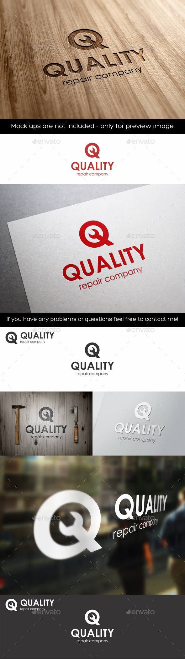 GraphicRiver Quality Repair Q Letter Logo 11253402