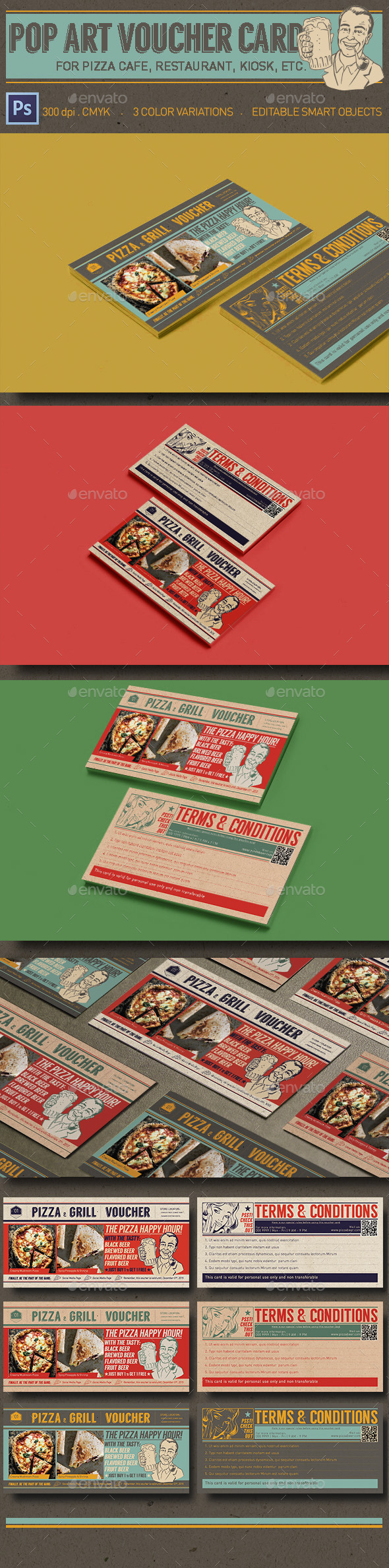 GraphicRiver Pop Art Coupon Card 11254653
