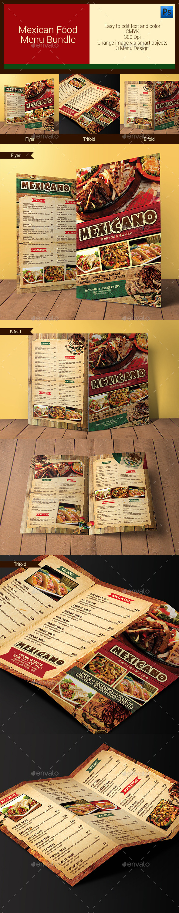 GraphicRiver Mexican Food Menu Bundle 11254670