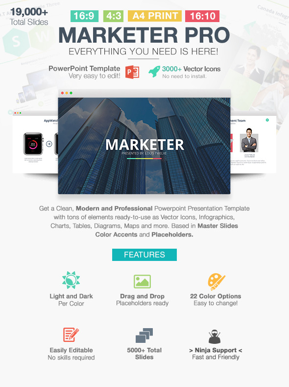 GraphicRiver Marketer Pro Powerpoint Template 11254723