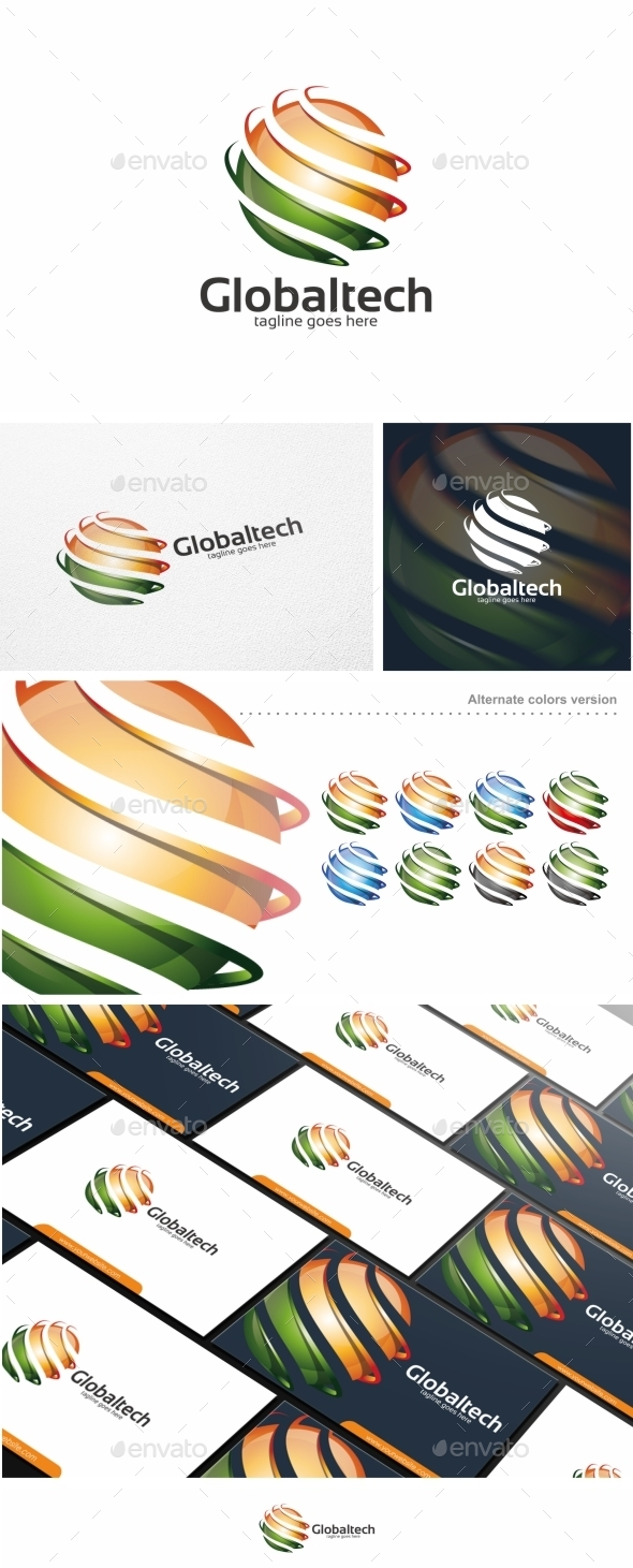 GraphicRiver Globaltech Sphere Logo Template 11254959