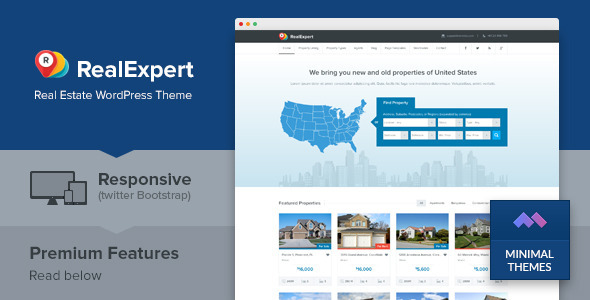 Real Expert - Responsive Real Estate and Property Listing WP Theme - Real Estate WordPress