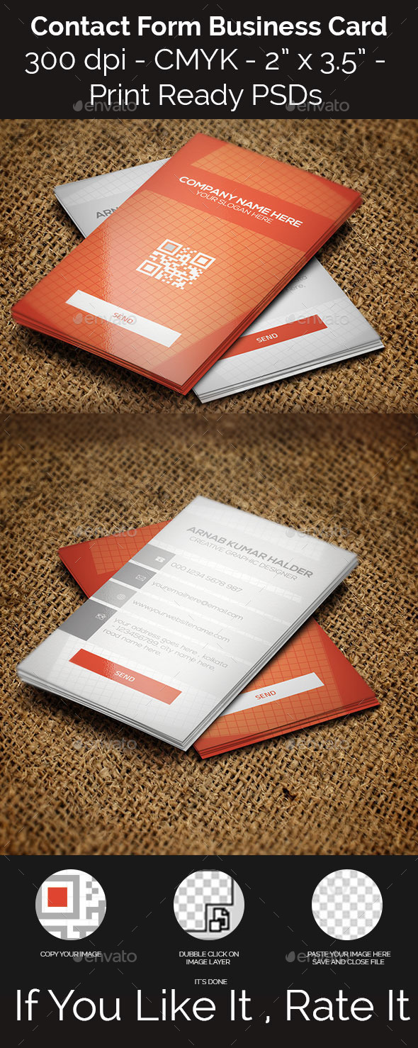 GraphicRiver Contact Form Business Card 11255139
