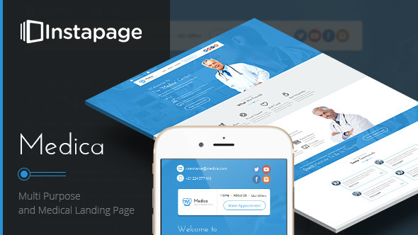 ThemeForest Medica Instapage Medical Landing Page 11255192