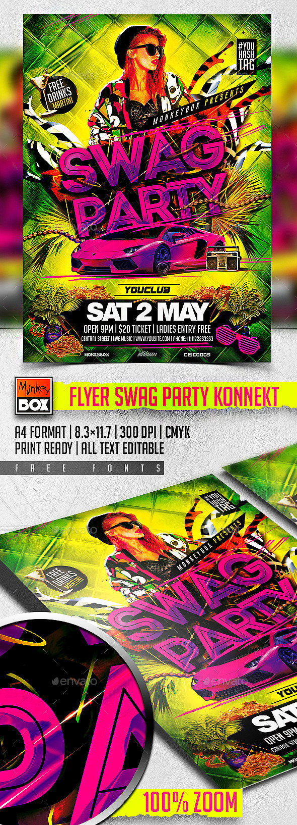 GraphicRiver Flyer Swag Party Konnekt 11255196