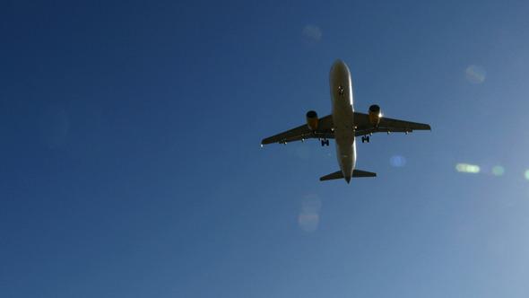 Jet Plane A320 Approaching Landing
