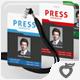 Press Pass / Credentials - GraphicRiver Item for Sale