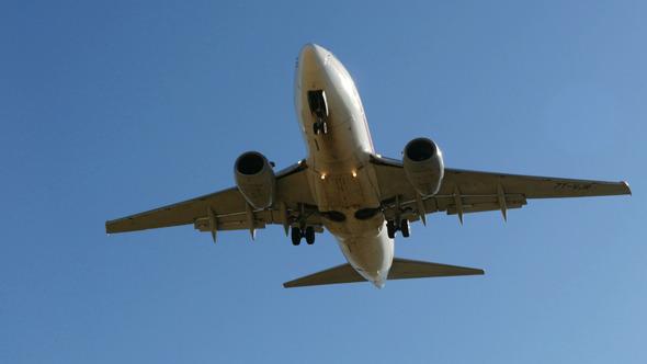 Jet Plane Approaching Landing