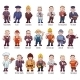 Vector Set Of Business People, Such As Policeman - GraphicRiver Item for Sale