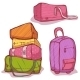 Vector Cartoon Illustration Of Color Bags Set - GraphicRiver Item for Sale