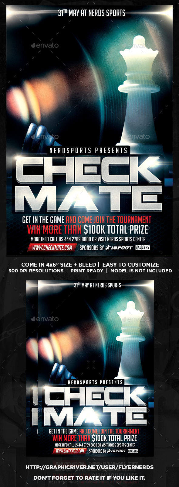 GraphicRiver Check Mate Chess Sports Flyer 11255401