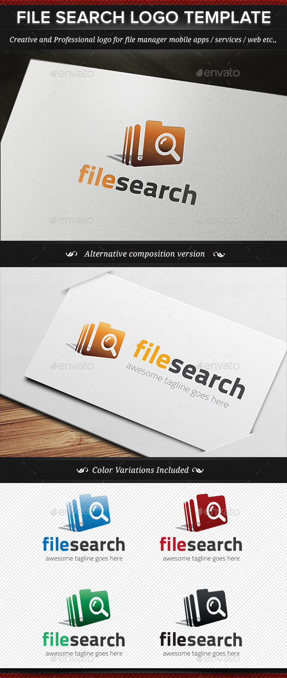 GraphicRiver File Search Logo Template 11255522