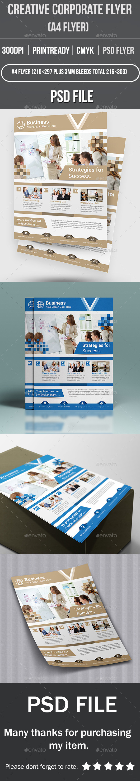 GraphicRiver Creative Corporate Flyer 11255529
