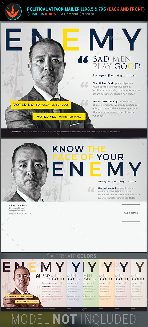 GraphicRiver Enemy Political Attack Mailer Template 11255538
