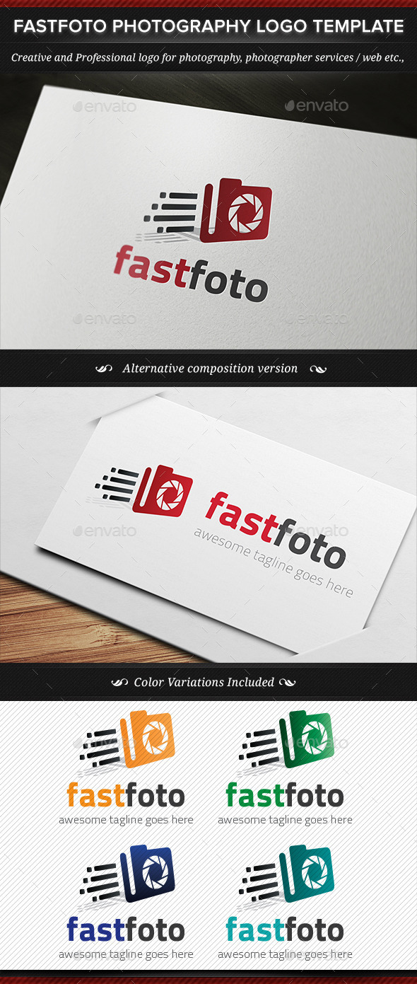 GraphicRiver Fastfoto Photography Logo Template 11255604