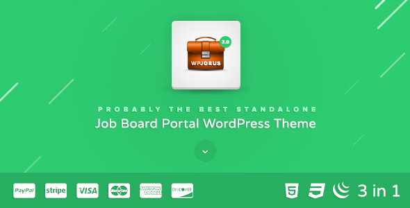 WPJobus - Job Board and Resumes WordPress Theme - Directory & Listings Corporate