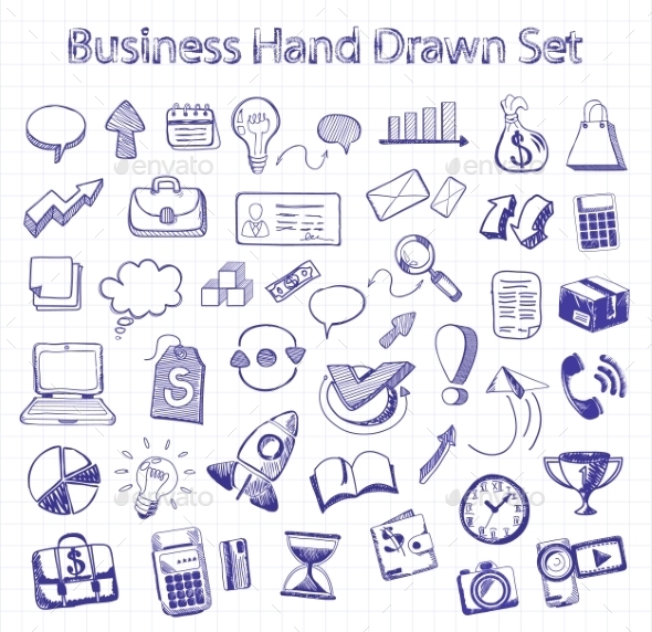 GraphicRiver Set Of Doodle Business And Management 11255887
