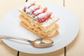 napoleon strawberry cake dessert - PhotoDune Item for Sale