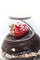 fresh chocolate strawberry mousse - PhotoDune Item for Sale