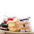 selection of fresh cream cake dessert plate - PhotoDune Item for Sale