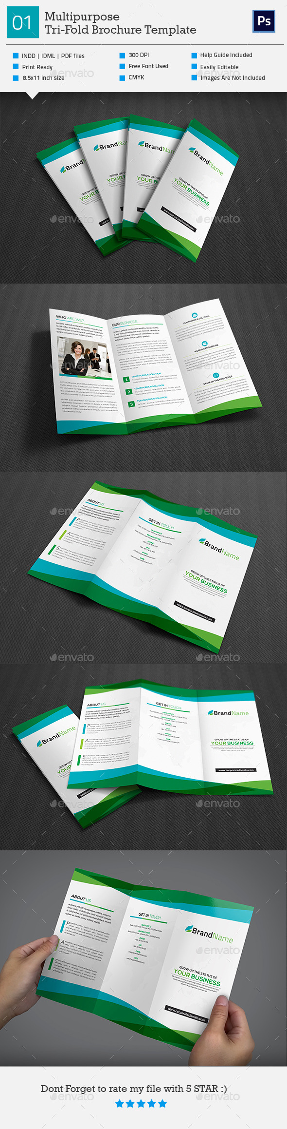 GraphicRiver Multipurpose Tri-Fold Brochure V1 11256061