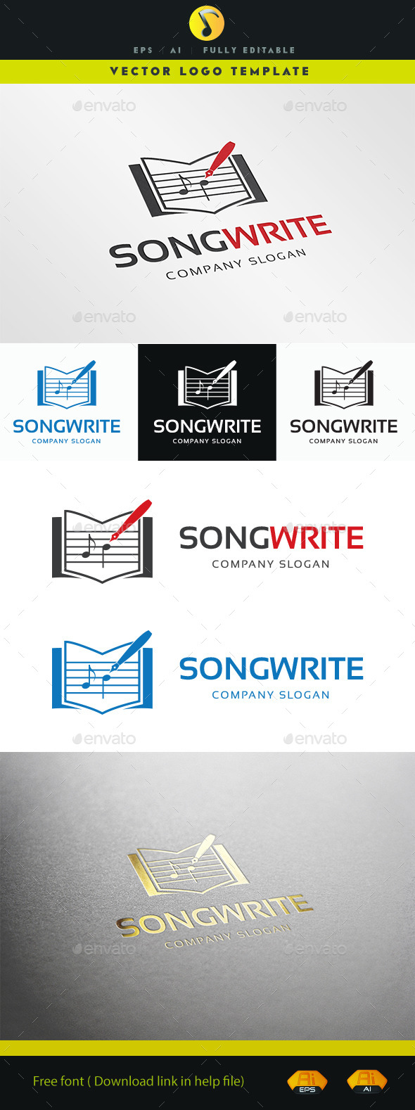 GraphicRiver Song Write 11256223