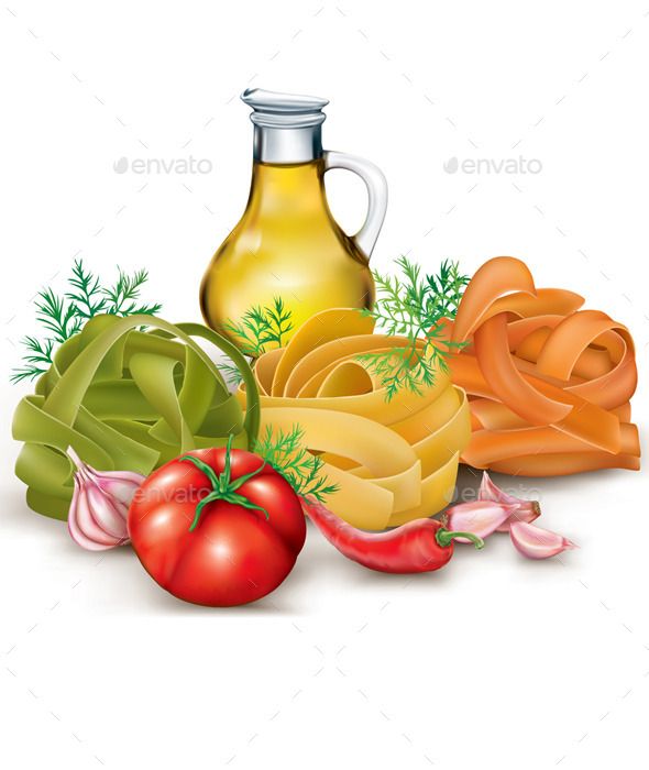 GraphicRiver Pasta and Vegetables 11256237