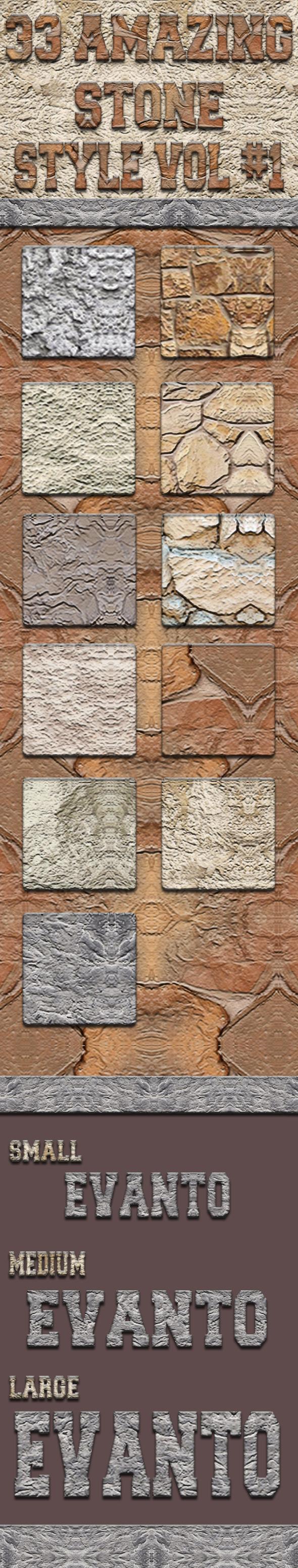 GraphicRiver 33 Amazing Stone Styles Vol 1 11256282