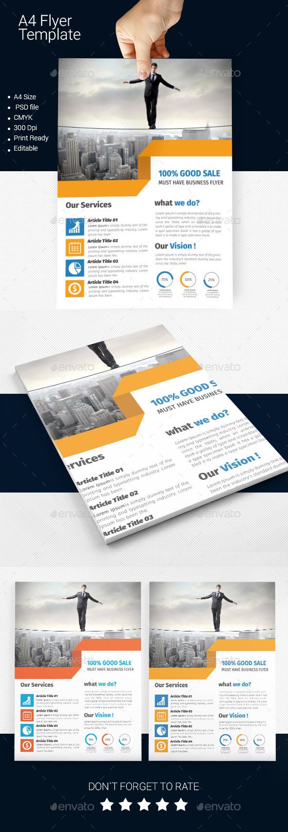 GraphicRiver A4 Business Flyer Template 08 11256316